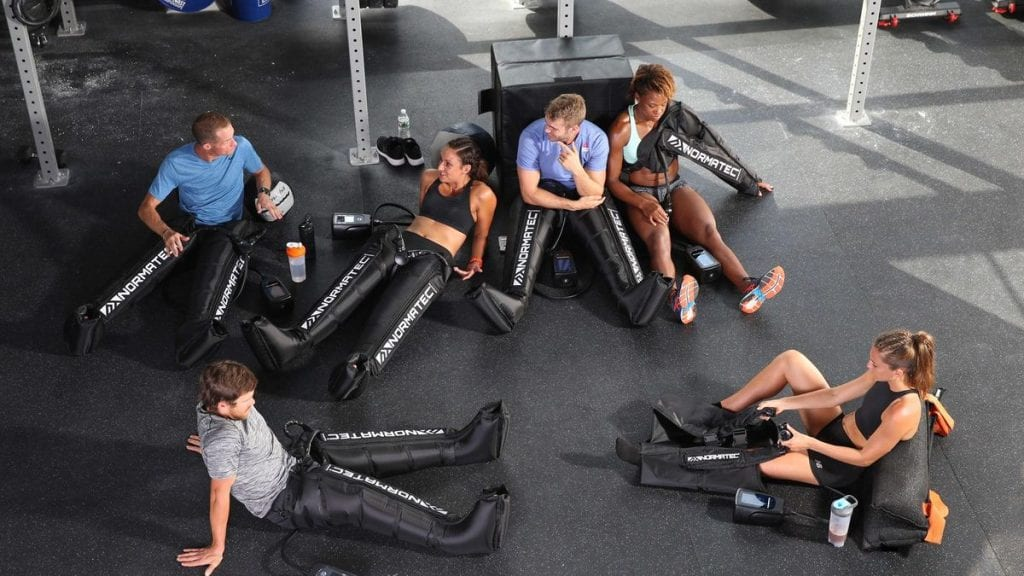 Normatec compression therapy at Apollo Health and Wellness Galway. Excellent for training recovery